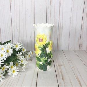 Vintage opalescent Daisy Design Flower Bud Vase